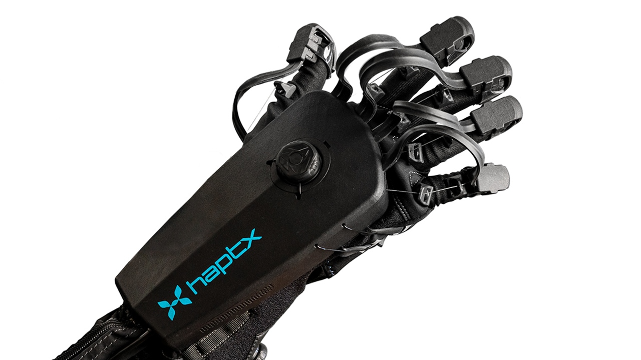 Close up of HaptX Gloves DK2