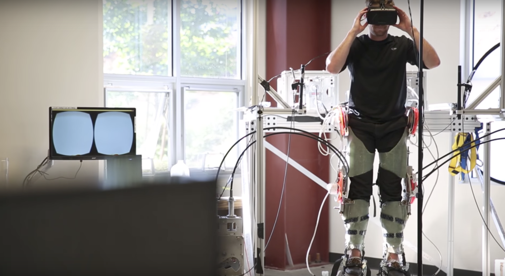 haptx's full body haptic exoskeleton