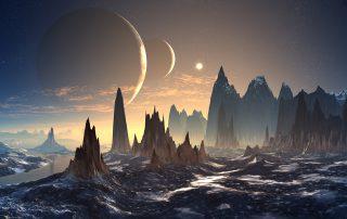 render of an alien world