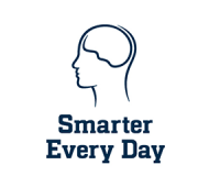 logo of human head from smarter every day